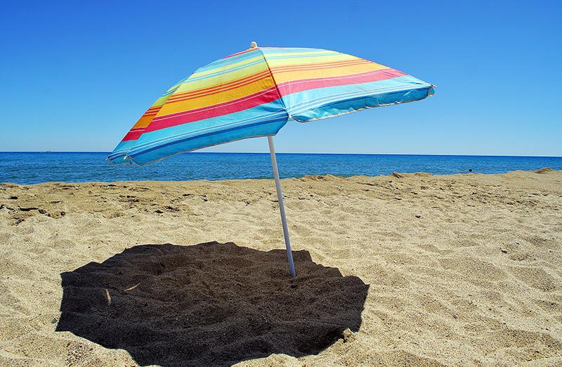 ranta aurinkovarjo