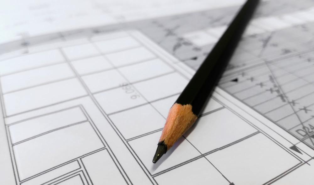 rakennuspiirros lyijykynä
