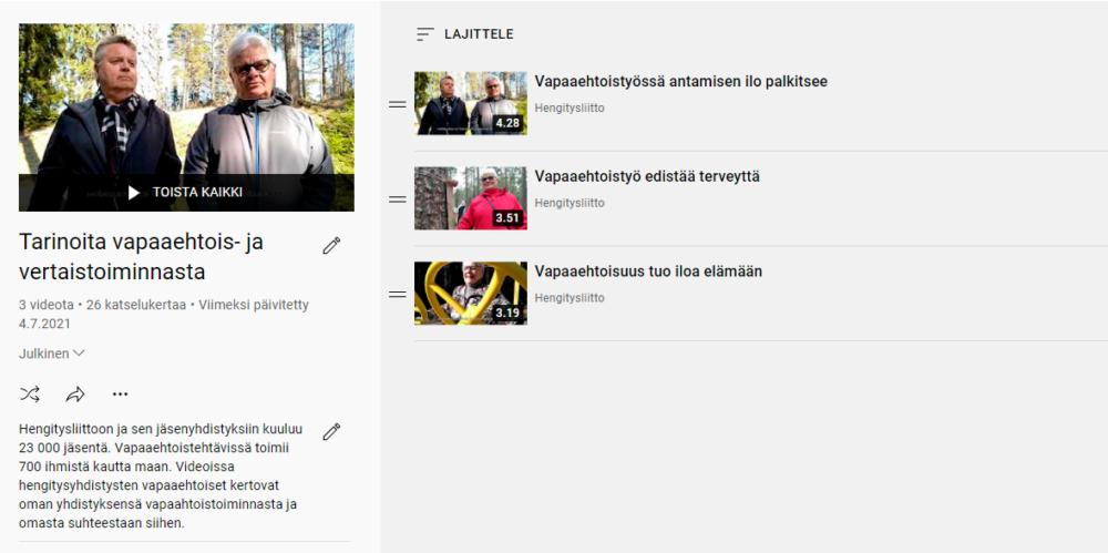 vapaaehtoiset youtube